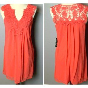 As You Wish NEW Shift Dress Size Small Coral